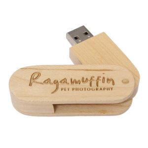 Swivel Wooden USB Drive