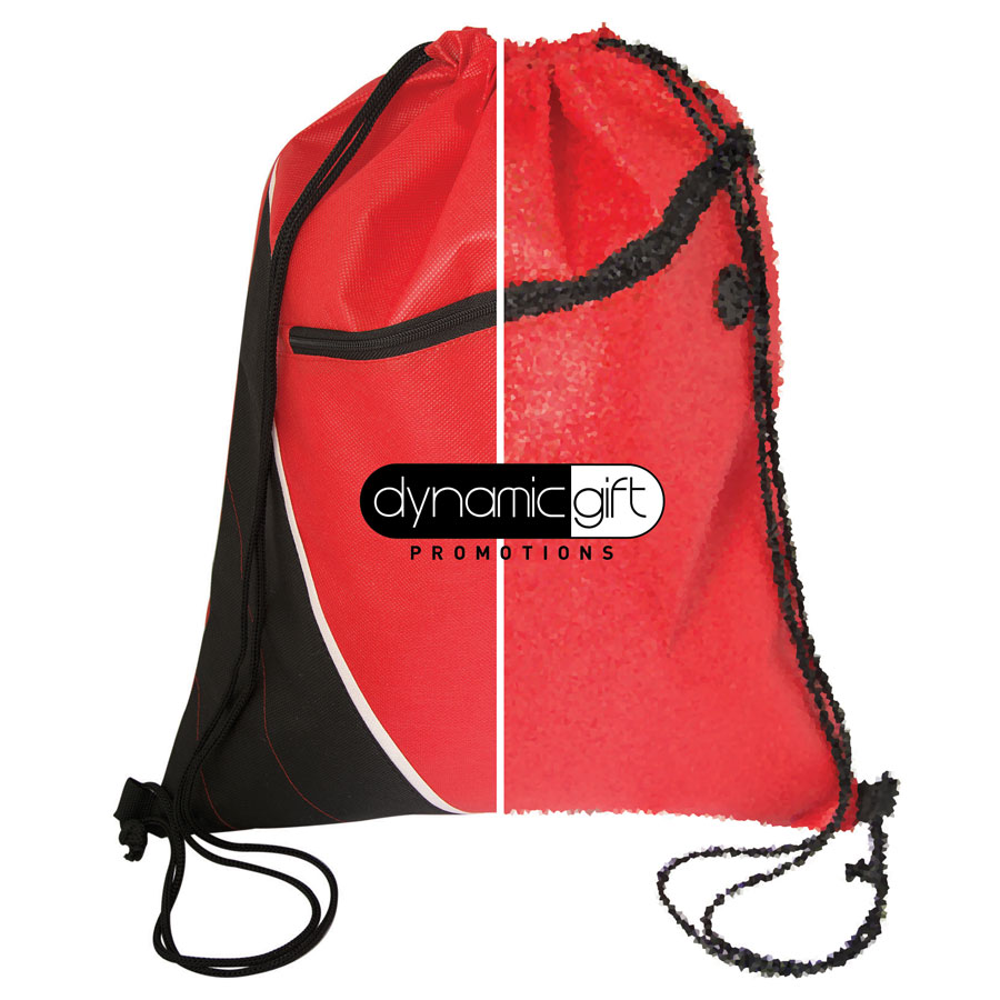 Dynamic Gift drawstring bag image showing hi-res vs lo-res