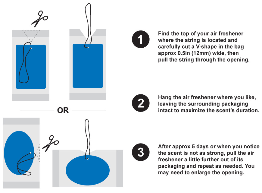 Follow these 3 easy steps to help maximize the duration of your air freshener scent