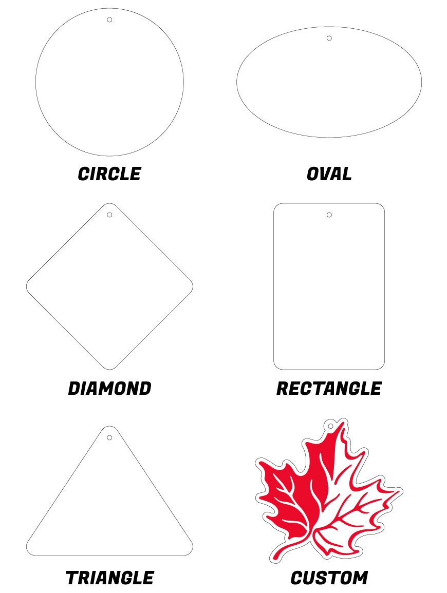 Shapes to choose from: circle, oval, diamond, rectangle, triangle, custom