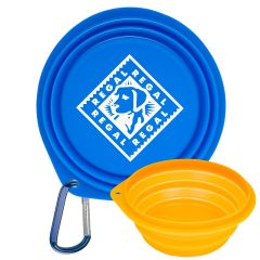 """Collapsible Pet Bowl with 2"""" Carabiner"""
