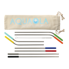 Reusable Stainless Straw 10-in-1 Set