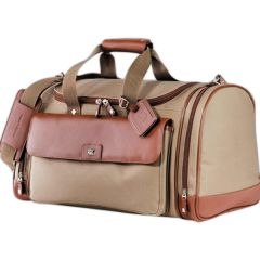 chestnut coloured duffle with brown accents