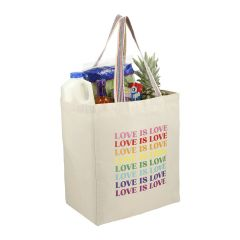 Rainbow Recycled 8oz Cotton Grocery Tote