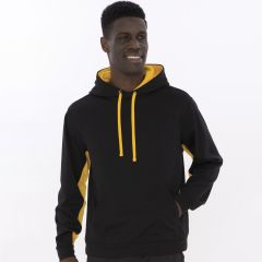 Fleece Colour Block Hooded Sweatshirt