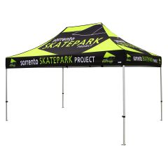 black and yellow 600D polyester 10x15ft event tent