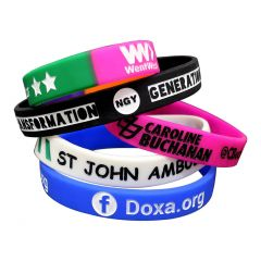 Debossed Inkfill Wristbands