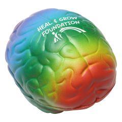 Rainbow Brain Shaped Stress Reliever
