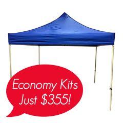 plain blue 600D polyester 10x10ft canopy event tent
