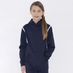 Fleece Varcity Hooded Youth Sweatshirt
