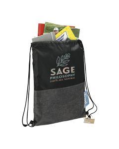 Ash Zippered Recycled Drawstring Bag