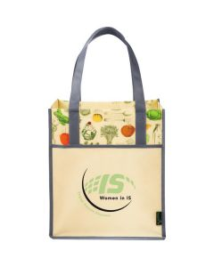 Matte Laminated Non-Woven Vintage Big Grocery Tote