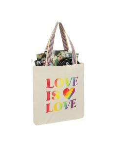 Rainbow Recycled 6oz Cotton Convention Tote