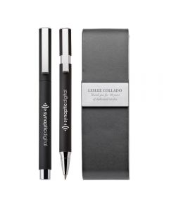 black willow ballpoint and rollerball pen set with packaging