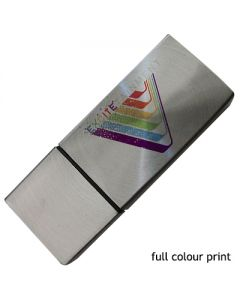 rectangle shaped metal USB with full colour print