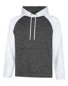 ATC Dynamic Heather Fleece Two Tone Hooded Sweatshirt