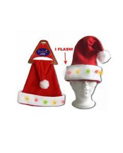 Flashing Santa Hat