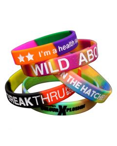 Multi Colour Segment Wristbands