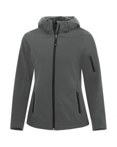 Coal Harbour Essential Hooded Soft Shell Ladies Jacket