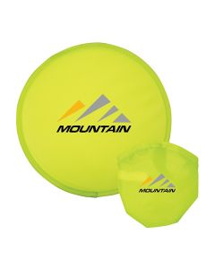 Lightweight Nylon Flying Disc with Nylon Pouch