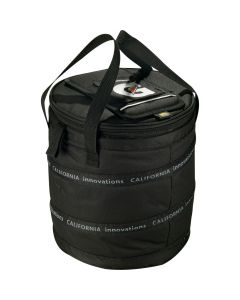 black 24 can cooler with full colour logo on top