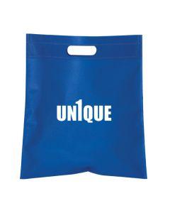 royal blue large rectangular tote with white logo