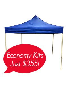 plain blue 600D polyester 10x10ft canopy event tent