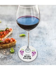Seeded Paper Wine Glass Tags