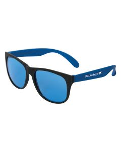 blue and black sunglasses