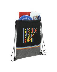 Rainbow Recycled PET Drawstring Bag