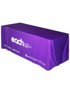 purple 6ft 180D polyester throw table cloth