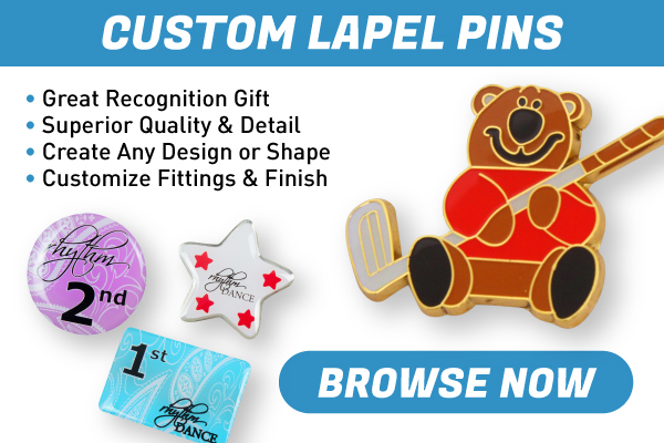 Custom Lapel Pins - Great recognition gifts, or fundraising for awareness! Customize colours, shapes, sizes, fittings and finishes to suit your style!